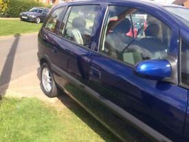 Vauxhall zafira very low mileage 46470