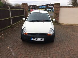 Ford KA white drives perfectly very clean all round..MOT must sell photos to follow