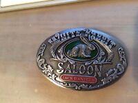 Jack Daniel's Silver colour WHITE RABBIT SALOON Belt Buckle