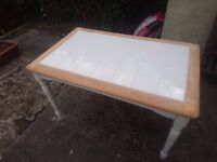 Tiled dining table