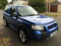 Land Rover Freelander TD4 1951cc Turbo Diesel automatic 3 door Estate 04 Plate 09/03/2004 Blue