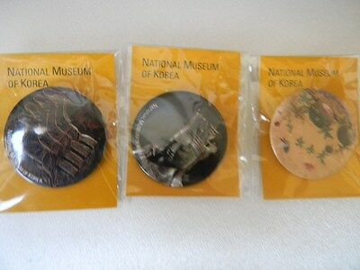 Set of three pins from The Natonal Museum of Korea- NEW