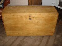 Antique Pine Wooden Chest