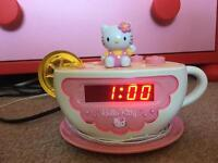 Hello kitty radio/alarm clock