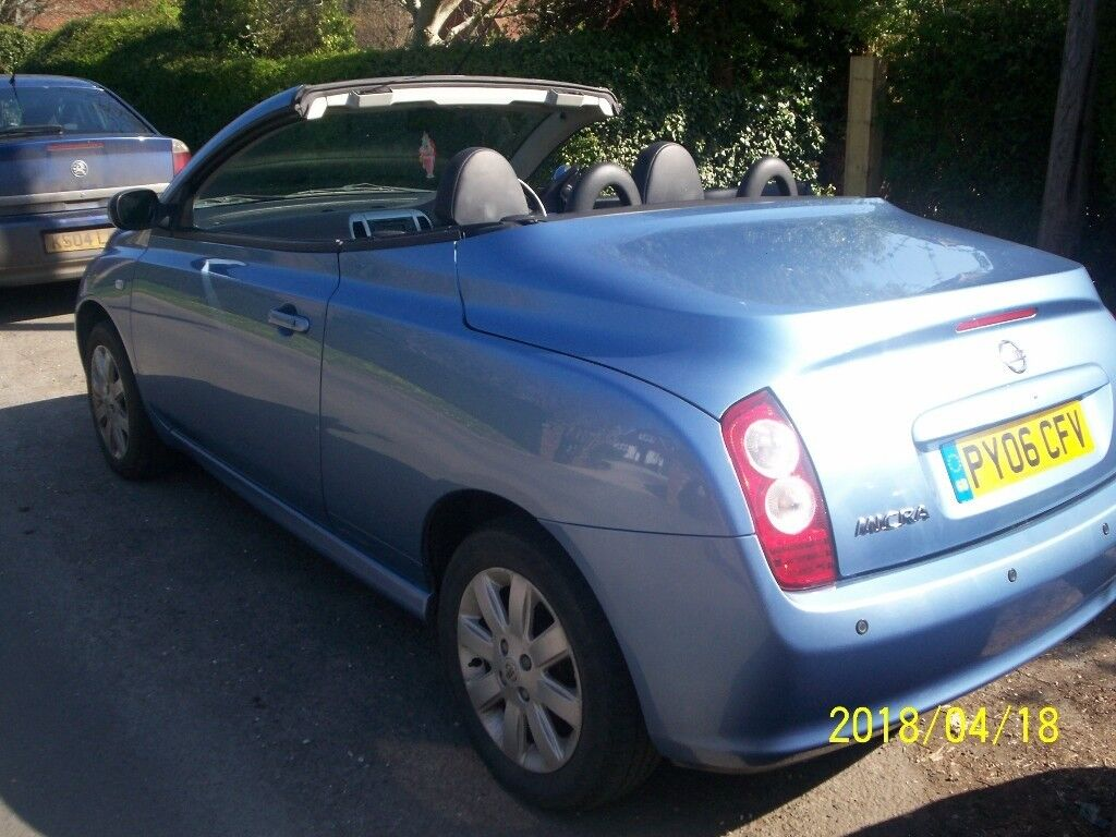 nissan micra c c 1 6 essenza 2006 convertible automatic in polegate east sussex gumtree. Black Bedroom Furniture Sets. Home Design Ideas