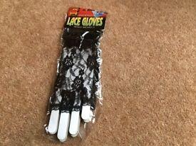 Fingerless lace black gloves- from Smiffys. Brand new