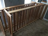 2 x Solid Pine Single Bed Frames (Were Bunks Now Seperated)! Ikea Mattresses available too, enquire?