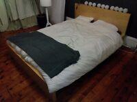 IKEA MALM double bed+mattress
