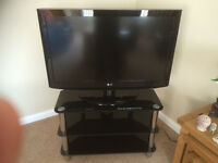 "38""LG Freeview LCD TV with sony DVD and Glass corner unit"