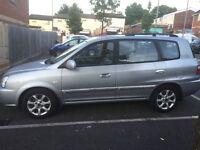 A Kia carens crdi diesel, low mileage,new mot , 5 door only £850 Ono