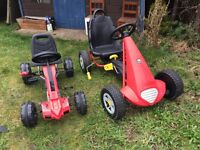 2X children's pedal cars