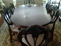 6 seat dining room table and chairs