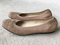 NEW! Russell & Bromley suede ballerina flat shoes - Size 7.5 US/5.5 UK - £100