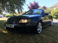 2007 SAAB 9-3 LINEAR TID CONVERTIBLE 1.9 TURBO DIESEL 150 BHP 6 SPEED MOT JULY 2019 NO ADVISORIE