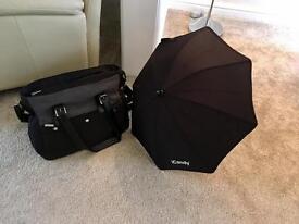 iCandy umbrella and iCandy baby bag
