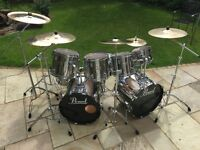 Pearl 8 piece MX Professional Drum Kit with Zildian Cymbals, Hardware and Cases.