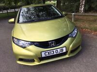 2013 Honda Civic SE, MK IX 1.4, Topaz Yellow (CAT D)