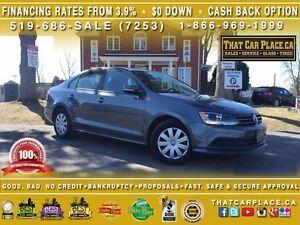 2016 Volkswagen Jetta TRENDLINE+$62/Wk-Clean Carproof-Turbo-Cam-