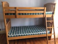 Pine Bunkbeds with mattresses