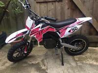 Electric mini dirt bike, pit bike, mini moto moto cross PINK
