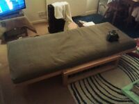 Futon Company Linear Single Seat Solid Birch Sofa Bed – excellent condition, BARGAIN!