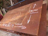 25 mm thick steel 1 metre x 1.8 metre welders bench steel plate