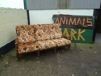 3 Seat Wood Framed Sofa Shabby Chic Project Delivery Available £10
