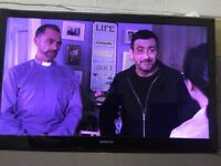 """46"""" SLIM FRAME SAMSUNG UE46B6000VW LED 1080p FULL HD TV WITH BUILTIN FREE VIEW IN GREAT CONDITION"""