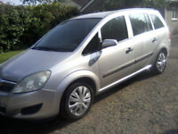VAUXHALL ZAFIRA 1-6 LIFE 5-DOOR MPV 7-SEATER PEOPLE CARRIER 2008. AUGUST 31ST 2022 MOT.