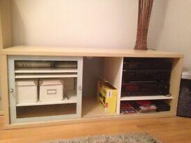 Beech Ikea Display Cabinets