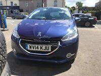 Peugeot 208 Purple 1.2 Petrol Manual 5 Door Hatchback 2014 Stunning Low Mileage Car
