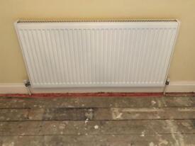 Single panel radiator white