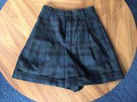 CHLOÉ tartan wool shorts (size 34)