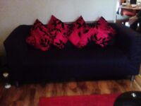 2 Ikea sofas, they are very clean, white underneath, with ikea black covers, collection only please
