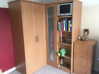 2 Double Wardrobes and 3 Chest of Drawers - As good as new!
