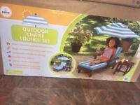 (NEW UNOPENED) outdoor chaise lounge set