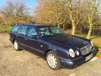 Mercedes Benz E320 Blue Elegance estate (1998) in good working condition with quality parts