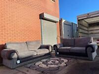 Grey & black Harvey's sofas 3&2 delivery 🚚 sofa suite couch furniture