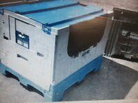 Large folding pallet box. With lids
