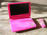Portable DVD Player in Pink