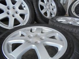 15inch Genuine subaru impreza wrx prodrive ALLOY wheels tyres celica turbo 5x100