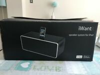 Black Iwant Speaker System for Ipod