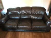 Brown leather suite 3+1+1