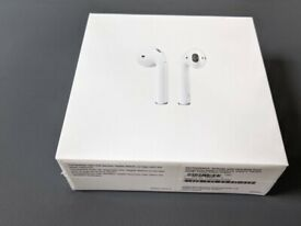 Apple AirPods (2nd generation) with charging case - brand new, unopened, shrink wrapped in plastic