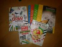 Collection of art/ how to draw books