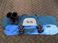 Adult Snowboard includes snowboard, bindings, boots and bag.