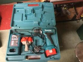Makita battery drill 627 OD 12 Volt complete with 2 x 1.3 Ah batteries. ONE NOW SOLD, ONE REMAINING