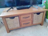 Solid oak unit / coffee table