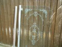 Glass Decorated Shower Screen