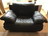 Black leather armchair for free